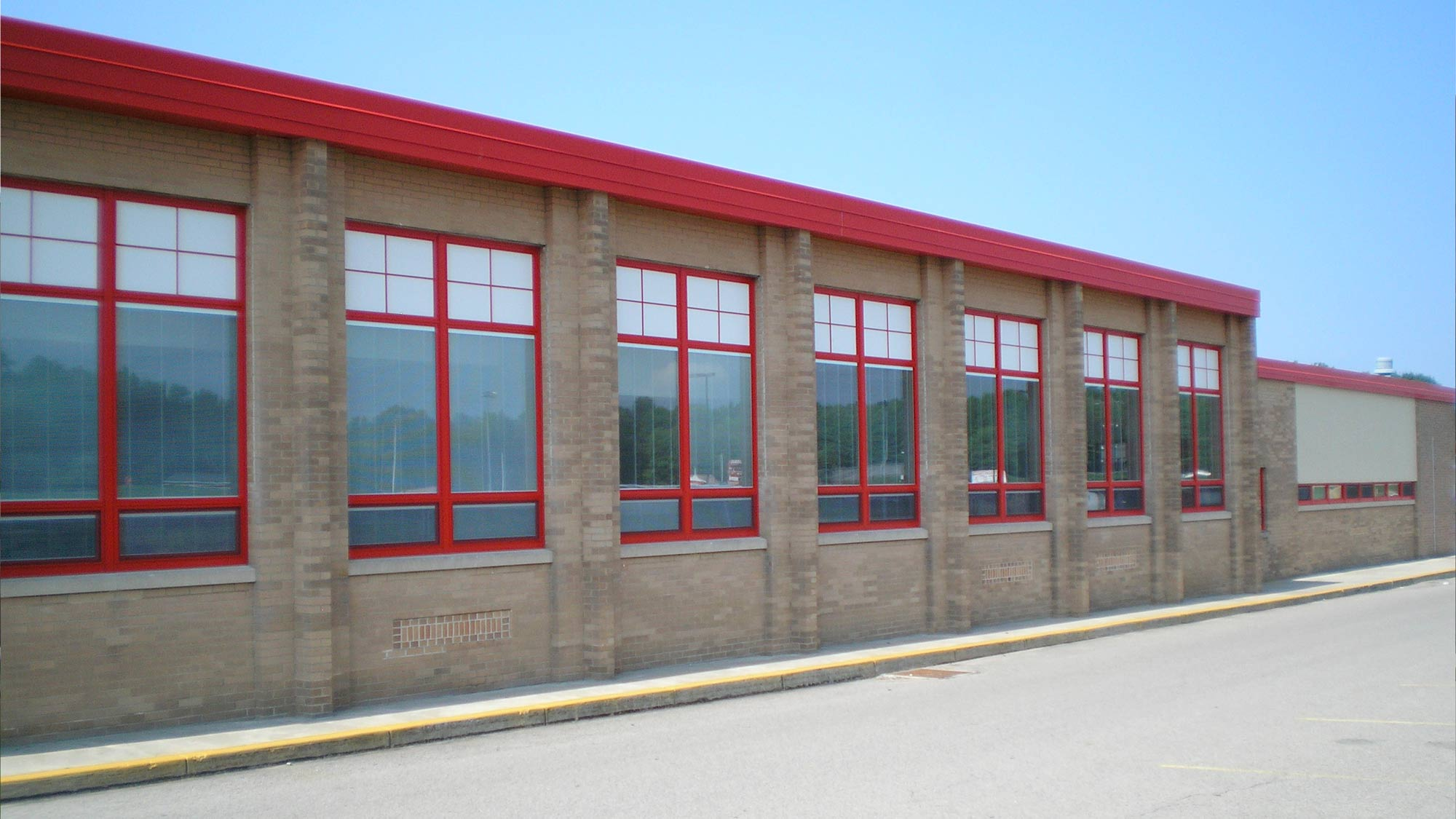 Neshannock Township High School Windows after